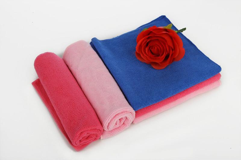 超细纤维经编毛巾百洁巾干发巾销售