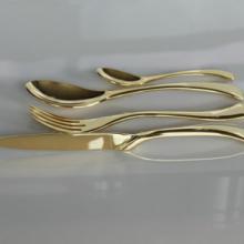 工厂直销KAYA镀金餐具不锈钢餐具厂家索途餐具批发