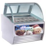 供应台上冰淇淋柜
