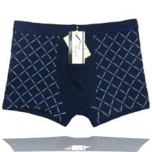 供应时尚格子印花竹纤维男式性感内裤