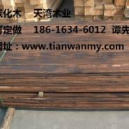 无锡表面碳化木地板图片