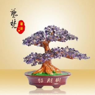 艺梵树脂工艺品简约现代招财树摆件图片