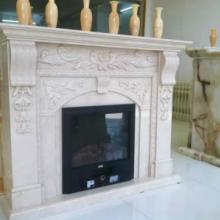 供应新莎安娜米黄大理石雕刻壁炉 进口天新莎安娜米黄大理石雕刻壁炉