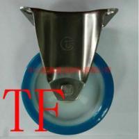 TF不锈钢定向PU脚轮/中型不锈钢脚轮中山脚轮不锈钢脚轮批发